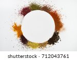 circle frame composition of... | Shutterstock . vector #712043761