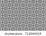 ornament with elements of black ... | Shutterstock . vector #712044319