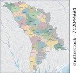 map of moldova | Shutterstock .eps vector #712044661