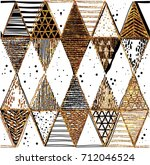seamless pattern of triangles.... | Shutterstock .eps vector #712046524