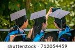 selective focus of three... | Shutterstock . vector #712054459