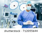 portrait of male surgeon in... | Shutterstock . vector #712055644