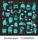 cute and childish doodle... | Shutterstock .eps vector #712060024