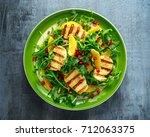 Grilled Halloumi Cheese Salad...