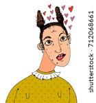 loving terrible woman... | Shutterstock .eps vector #712068661