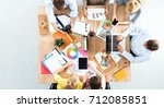 business people sitting and... | Shutterstock . vector #712085851