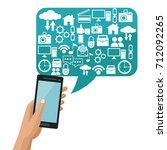 social media technology | Shutterstock .eps vector #712092265