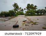 city of miami beach  hurricane... | Shutterstock . vector #712097929
