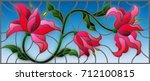 illustration in stained glass...   Shutterstock .eps vector #712100815