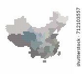 china and taiwan map of circle... | Shutterstock .eps vector #712103557