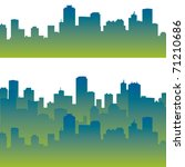 city silhouette | Shutterstock .eps vector #71210686