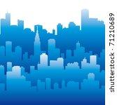 city silhouette | Shutterstock .eps vector #71210689