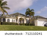 typical southwest florida white ... | Shutterstock . vector #712110241