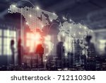 international business... | Shutterstock . vector #712110304