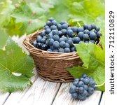 harvest time  grapes | Shutterstock . vector #712110829