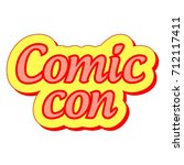 comic con international annual... | Shutterstock .eps vector #712117411