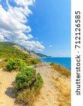 juniper  reserve on the black... | Shutterstock . vector #712126585
