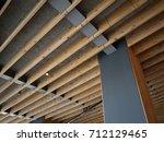 construction showing joists... | Shutterstock . vector #712129465