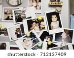 a family memories photo... | Shutterstock . vector #712137409