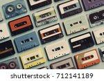 cassette tape vintage style...   Shutterstock . vector #712141189