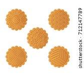 vector illustration of mooncake ... | Shutterstock .eps vector #712147789