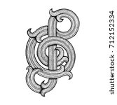 hand drawn music key logo.... | Shutterstock .eps vector #712152334