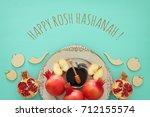rosh hashanah  jewish new year... | Shutterstock . vector #712155574