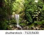 waterfall making its way into a ... | Shutterstock . vector #71215630