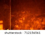 yellow background cement wall   | Shutterstock . vector #712156561