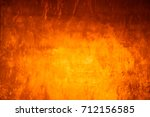 yellow background cement wall   | Shutterstock . vector #712156585