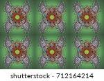 oriental raster pattern with... | Shutterstock . vector #712164214