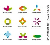 set of nine creative logos | Shutterstock .eps vector #712175701