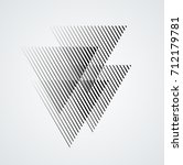 triangle logo with lines.square ... | Shutterstock .eps vector #712179781