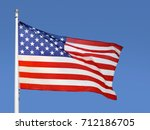 shot of the flag of the united... | Shutterstock . vector #712186705