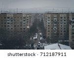 dormitory buildings in a...   Shutterstock . vector #712187911