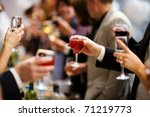holiday event people cheering... | Shutterstock . vector #71219773