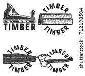 vintage timber emblems | Shutterstock .eps vector #712198504