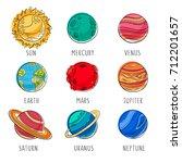 vector flat education space...   Shutterstock .eps vector #712201657