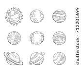 vector cartoon planets