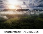 aerial view of lanscape during... | Shutterstock . vector #712202215