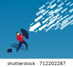 the businessman used the... | Shutterstock .eps vector #712202287