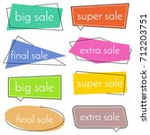 set of eight sale bannes with... | Shutterstock . vector #712203751