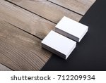 photo of business cards.... | Shutterstock . vector #712209934