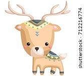 tribal deer   Shutterstock .eps vector #712216774