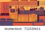 kitchen flat illustration | Shutterstock .eps vector #712220611