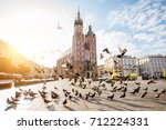 view on the central square and... | Shutterstock . vector #712224331