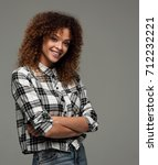 beautiful young woman in a... | Shutterstock . vector #712232221