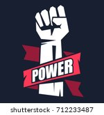 fist male hand  proletarian... | Shutterstock .eps vector #712233487