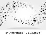 music notes background | Shutterstock .eps vector #71223595