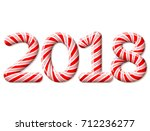 new year 2018 in shape of candy ...   Shutterstock .eps vector #712236277